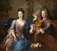 Pierre Gobert - Presumed portrait of Philippe, Duke of Orléans and Madame de Parabère.jpg