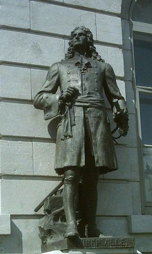 Pierre Le Moyne d'Iberville - Sculpture of d'Iberville at the Parliament Building (Quebec).