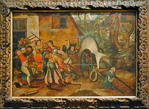 Pieter Brueghel Jr Peasants fight with soldiers