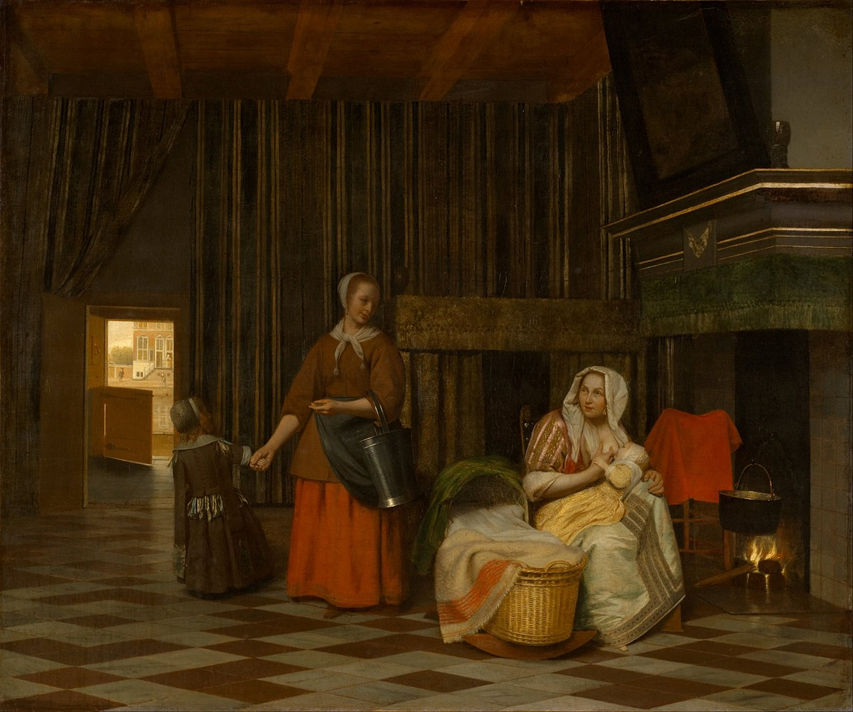 Pieter de Hooch - Woman and Child with Serving Maid - Google Art Project.jpg
