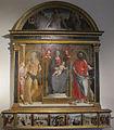 Pietro di francesco degli orioli, madonna e santi con predella.JPG
