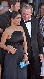 Salma Hayek nel 2006 con il marito francese François-Henri Pinault.