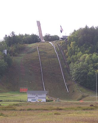 Pine Mountain Jump - View from the parking lot