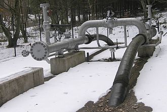 "Pipeline transport - A ""Pig"" launcher/receiver, on the natural gas pipeline in Switzerland"