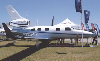 Podded engine - The Piper PA-47 PiperJet uses a pod mounted to the tail.
