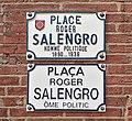Place Roger-Salengro (Toulouse) - Plaques.jpg