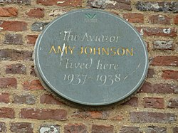 Photo of Amy Johnson slate plaque
