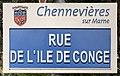 Plaque Rue Île Congé - Chennevières-sur-Marne (FR94) - 2021-05-05 - 1.jpg