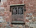 Plaque on the Facade of St Petrock's Church, Exeter.jpg