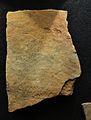 Plaqueta gravada de la Cova del Parpalló (Gandia), museu de Prehistòria de València.JPG
