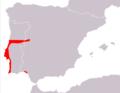 Podarcis carbonelli range map.png