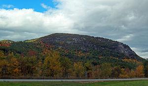 Poke-O-Moonshine Mountain - Image: Poke O Moonshine Mountain from I 87 Northway