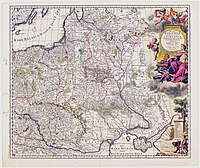 Old map of Poland