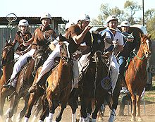 juniors playing polocrosse in nsw  australia