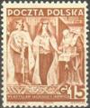 Polska 334 - XX rocznica odzyskania niepodległości, Władysław Jagiełło i Jadwiga, wersja bez mieczy.png