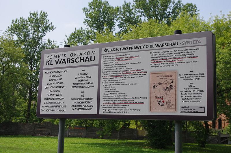 Plik:Pomnik ofiarom KL Warschau na Skwerze im. Alojzego Pawełka w Warszawie (2).JPG