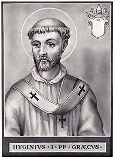 Pope Hyginus 9th Pope of the Catholic Church