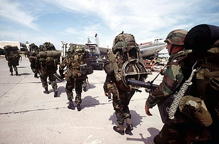 U.S. troops seizing Port-au-Prince airfield, September 1994 Port-au-Prince airfield seizure.jpg