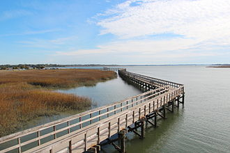 Port Royal, South Carolina - Sands Beach boardwalk