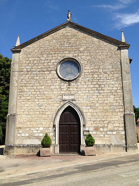 Portail de l'église Saint-Jean-Baptiste de Saint-Jean-de-Niost.