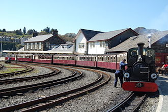 Porthmadog - The Ffestiniog Railway is a popular tourist attraction, carrying visitors through mountain scenery to Blaenau Ffestiniog.