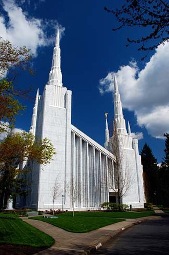 Lake Oswego, Oregon - The Portland Oregon Temple of The Church of Jesus Christ of Latter-day Saints (Mormons) is located in Lake Oswego.
