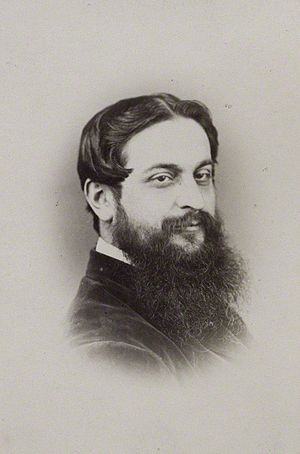 Tom Hood - Portrait of Tom Hood, by Elliott & Fry, albumen carte-de-visite, 1860s–1870s