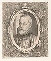 Portret van Filips II, koning van Spanje Philippus D. G. Hisp. Sicil. Neap. etc. Rex Archd. Austr. (titel op object) Portretten van vorsten en andere illustere figuren (serietitel) Imagines Quorundam Principum et Illu, RP-P-OB-36.703.jpg