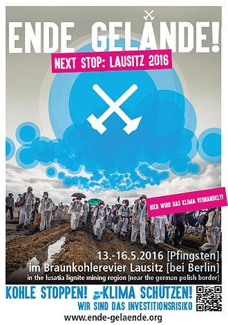 Ende Gelände 2016 - Image: Poster Ende Gelände