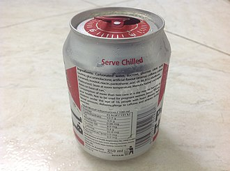"Energy drink - A health warning on a can of the Austrian Power Horse energy drink: ""Consumption of more than two cans in a day may be harmful to your health. Not to be used for pregnant women, breast feeders, children under the age of 16, people with heart disease, high blood pressure, diabetes, allergy to caffeine, and athletes during exercise."""