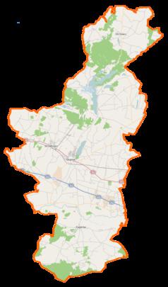 Mapa lokalizacyjna powiatu słupeckiego