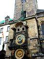 Praga, zegar astronomiczny na staromiejskim ratuszu DSC06654.jpg