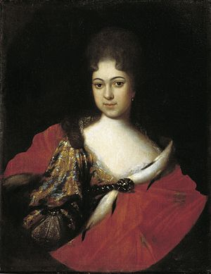 Ivan Nikitin (painter) - Image: Praskovia Ioannovna by I.Nikitin (1714, Russian museum)