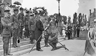 38th Battalion (Ottawa), CEF - Image: Presentation of Colours to 38th Battalion 31 July 1915
