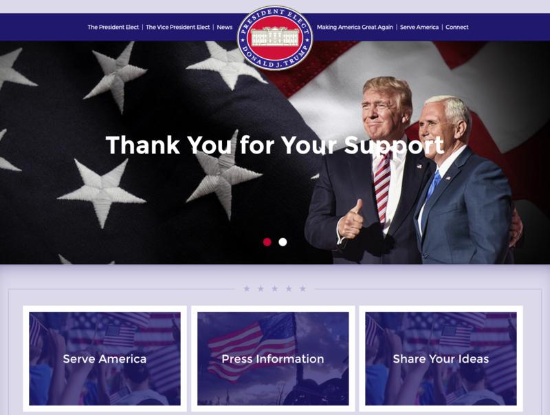 President Elect Donald J. Trump website.png