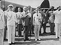 President Elie Lescot van Haïti op Curaçao wordt op vliegveld Hato ontvangen doo, Bestanddeelnr 935-1574.jpg