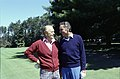 """President Gerald R. Ford and Francis """"Pug"""" Lund on the Golf Course at Burning Tree Country Club in Bethesda, Maryland - NARA - 45644317.jpg"""