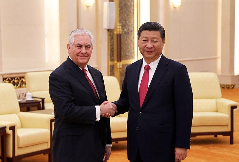 President Xi Jinping Greets Secretary Tillerson (33139050550).jpg