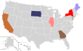 Presidential Candidate Home State Locator Map, 1972 (United States of America) (Expanded).png