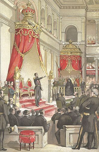 Chamber of Representatives (Belgium) - Leopold II takes the oath