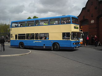 Preston Bus - Preserved Leyland Olympian in the livery introduced in the 1970s