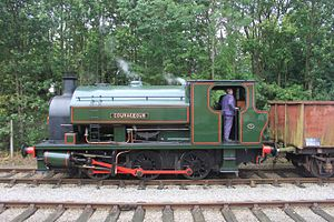 Ribble Steam Railway - Image: Preston Riverside Courageous with mineral wagons