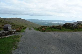 Priest's Leap - Summit of the Priest's Leap pass with a view south to Bantry Bay in Cork