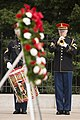 Prime Minister of Canada lays a wreath at the Tomb of the Unknown Soldier in Arlington National Cemetery (25584516522).jpg