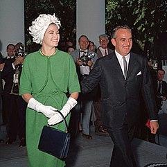Fürstin Grace und Fürst Rainier 1961
