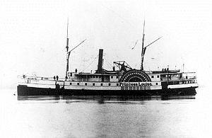 Princess Louise (sidewheeler) - Image: Princess Louise (sidewheeler) at Masset BC ca 1880