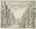 """Print, Set Design for Scene 3, """"La Vita Humana overo,"""" from """"Il Trionfo della Pieta"""", 1658 (CH 18554047).jpg"""