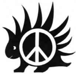L. K. Samuels - Designed by L.K. Samuels, the PorcuPeace symbol combines the twin principles of self-defense and non-aggression.