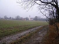 Proszowa Poland churchpath from Boza Gora to Proszowa.jpg