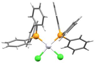 Bis(triphenylphosphine)platinum chloride - Image: Pt(P Ph 3)2Cl 2